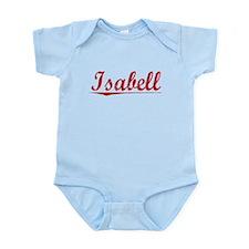 Isabell, Vintage Red Infant Bodysuit