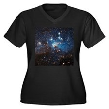 LH95 Stellar Nursery Women's Plus Size V-Neck Dark