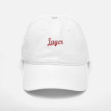 Jager, Vintage Red Baseball Baseball Cap