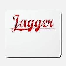 Jagger, Vintage Red Mousepad