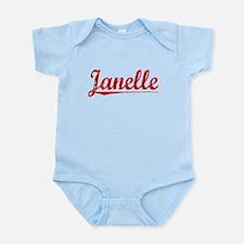 Janelle, Vintage Red Onesie