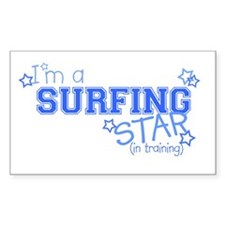 Surfing star Rectangle Decal