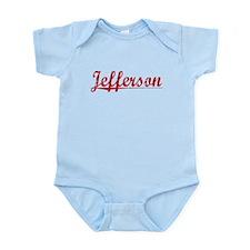 Jefferson, Vintage Red Infant Bodysuit