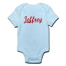 Jeffrey, Vintage Red Infant Bodysuit
