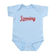Jenning, Vintage Red Infant Bodysuit