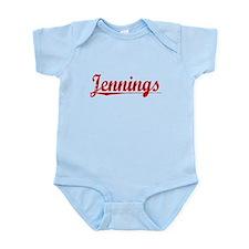 Jennings, Vintage Red Infant Bodysuit