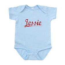 Jessie, Vintage Red Infant Bodysuit