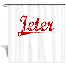 Jeter, Vintage Red Shower Curtain