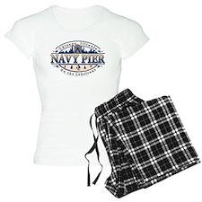 Navy Pier Oval Stylized Skyline design Pajamas