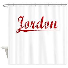Jordon, Vintage Red Shower Curtain