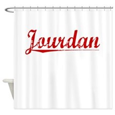 Jourdan, Vintage Red Shower Curtain