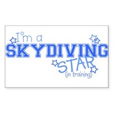 Skydiving star Rectangle Decal