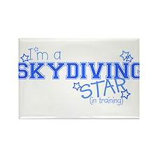 Skydiving star Rectangle Magnet