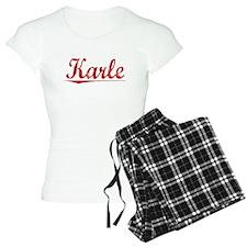 Karle, Vintage Red Pajamas