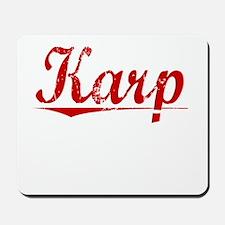 Karp, Vintage Red Mousepad
