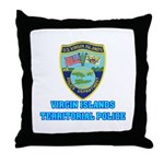 Virgin Islands Police Throw Pillow