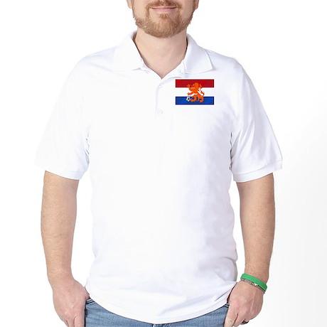 Orange Football Lion Golf Shirt