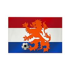 Orange Football Lion Rectangle Magnet