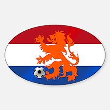 Orange Football Lion Decal