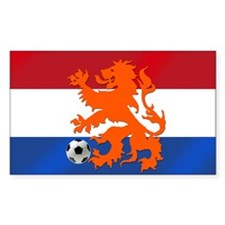 Orange Football Lion Stickers