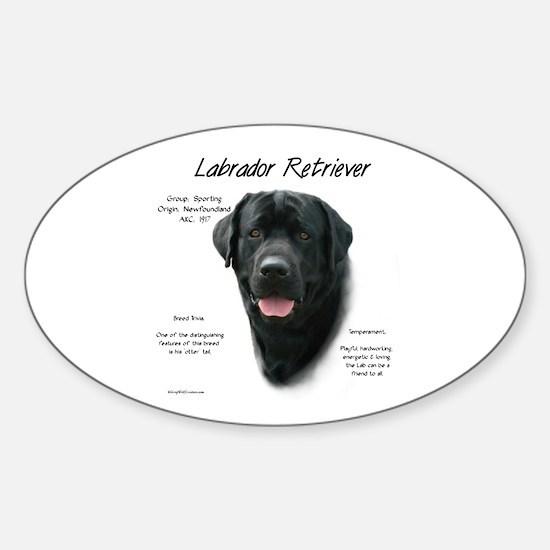 Black Lab Sticker (Oval)