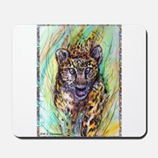 Leopard! Wildlife art! Mousepad