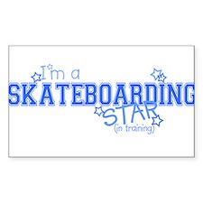Skateboarding star Rectangle Decal