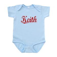 Keith, Vintage Red Infant Bodysuit