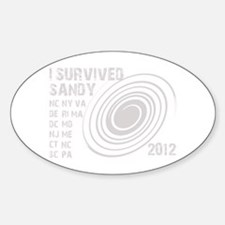 I Survived Sandy 2012 Decal