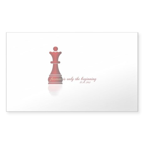 Forever is only the Beginning Chess Sticker (Recta
