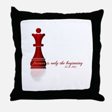 Forever is only the Beginning Chess Throw Pillow