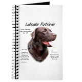 Chocolate labrador retriever Journals & Spiral Notebooks