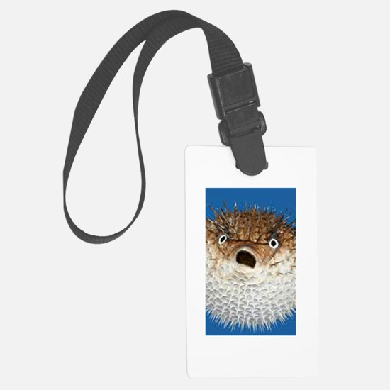 Blow Fish Face Luggage Tag