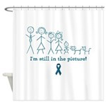 Teal Family Shower Curtain