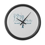 Teal Family Large Wall Clock