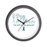 Teal Family Wall Clock