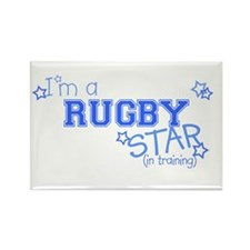 Rugby star Rectangle Magnet