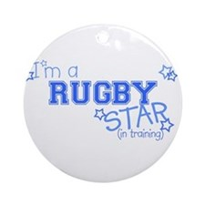 Rugby star Ornament (Round)