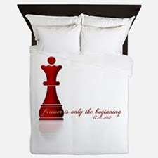 Chess Queen Forever is the Beginning Queen Duvet