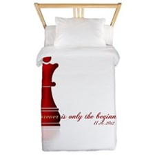 Chess Queen Forever is the Beginning Twin Duvet