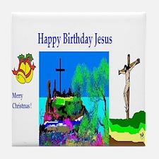 Christmas Jesus Birthday Tile Coaster