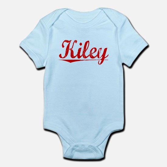 Kiley, Vintage Red Infant Bodysuit