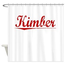 Kimber, Vintage Red Shower Curtain