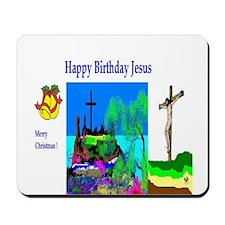 Christmas Jesus Birthday Mousepad