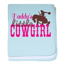 Daddys Little Cowgirl baby blanket