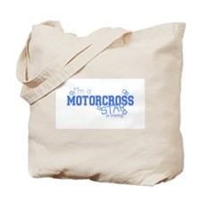 Motorcross star Tote Bag