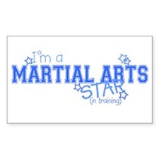 Martial Arts star Rectangle Decal