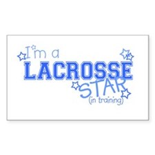 Lacrosse star Rectangle Decal