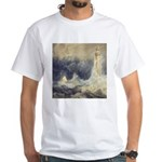 Bell Rock Lighthouse by Turner White T-Shirt