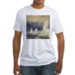 Bell Rock Lighthouse by Turner Fitted T-Shirt
